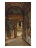 Interior of the Palazzo Borghese, Rome Giclee Print by Joseph Theodore Hansen