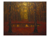 The Pond at Versailles in Autumn; Le Bassin a Versailles En Automne Giclee Print by Henri Le Sidaner