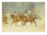Going Out in a Snowstorm Prints by Henry Thomas Alken