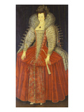 Portrait of a Lady, Said to Be Queen Catherine of Sweden Giclee Print by English School