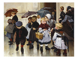 Une Sortie De Classe Giclee Print by Henri Jules Geoffroy