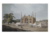 The Gateway Leading to Akbar's Mausoleum, Sikandra, Uttar Pradesh Giclee Print by Thomas & William Daniell