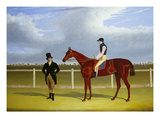 The Hon. E. Petre's Rowton with W. Scott Up, and His Trainer at Doncaster Prints by John Frederick Herring I