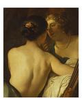 Júpiter disfrazado de Diana seduciendo a Calisto Pósters por Gerrit van Honthorst