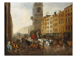 The London-To-Brighton Coach at Cheapside Giclee Print by James Pollard (Circle of)