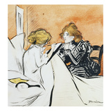 The Dictation; La Dictee Giclee Print by Théophile Alexandre Steinlen