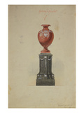 A Design for a Massive Silver- Mounted Two Colour Marble Urn Prints