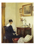 A Mother and a Child in an Interior Art by Carl Holsoe