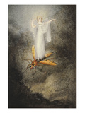 A Fairy Standing on a Moth Impressão giclée por Amelia Jane Murray