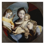 The Madonna and Child with St. Catherine and an Angel Prints by Antonio Allegri da Correggio (After)
