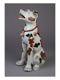 A Handsome Arita Model of a Seated Dog Giclee Print