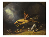 The Fox Hunter's Dream Lmina gicle por William Holbrook Beard