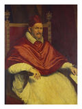 Portrait of Pope Innocent X, Seated Holding a Letter Poster by Pietro Martire Neri Neri