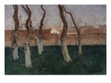 The Walled Garden Poster von Fritz Thaulow