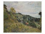Hillside in Auvers; Sente Et Coteaux D'Auvers Poster by Camille Pissarro