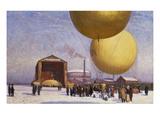 Ballooning at the Berliner Verein Fur Luftfahrt Premium Giclee Print by Philipp Braumuller