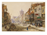 The High Street, Salisbury Print by Louise J. Rayner