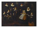 A Group Portrait of Three Generations of a Family, Small Full Lengths in the Grounds of a Country… Giclee Print by Dirck Santvoort