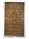 A Prayer Hanging, the Metal Ground Woven with a Flower Filled Mehrab Hung with a Mosque Lamp… Premium Giclee Print