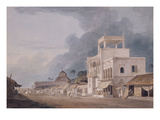 View on the Chitpur Road, Calcutta Premium Giclee Print by Thomas & William Daniell