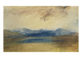 A Mountainous Landscape with a Lake Prints by William Turner