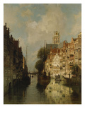 A View of the Voorstraathaven, Dordrecht Reproduction procédé giclée par Johannes Karel Christian Klinkenberg