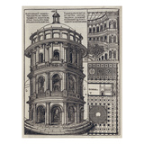 Roman Amphi-Theatre from 'De Architectura'. Reprinted and Translated by Como Giclee Print