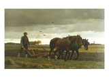 The Ploughman Premium Giclee Print by Frants Henningsen
