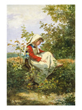 A Moment's Rest Giclee Print by Jules Trayer
