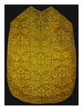 A Chasuble of Green and Yellow Brocatelle, the Yellow Green Woven with a Lattice of Arabesques… Prints