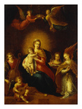 Virgin and Child with Music Making Angels Giclee Print by Frans Francken the Younger