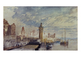 Mainz on the Rhine Posters by J. M. W. Turner