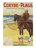 Coxyde-Beach; Coxyde-Plage Premium Giclee Print by Matteoda Angelo Rossotti