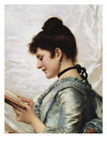 A Good Book Giclee Print by Tito Conti