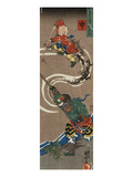 Monkey: Songoku (Sun Wu K'Ung) King of the Monkeys Conjuring an Army of Monkeys from the Air to… Prints by Kuniyoshi Utagawa