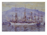 Three Masters Falmouth Giclee Print by Henry Scott Tuke