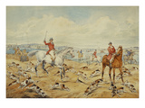 Hunting Scenes: Drawing Cover with Spectators in the Distance Art by Henry Thomas Alken