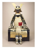 A Composite Japanese Armour Suit with a Saotome Helmet Giclee Print