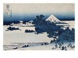 Shichirigahama in Suruga Province'- from the Series 'The Thirty Six Views of Mount Fuji' Giclée-trykk av Katsushika Hokusai
