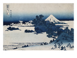 Shichirigahama in Suruga Province'- from the Series 'The Thirty Six Views of Mount Fuji' Gicléedruk van Katsushika Hokusai
