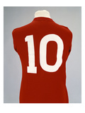 A Red England World Cup Final International Shirt, No.10, Worn by Geoff Hurst in 1966 World Cup… Reproduction procédé giclée