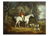 Viscount Rowland Hill on His Grey Hunter with the Shropshire Hunt Giclee Print by Richard Jones
