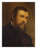 Portrait of a Gentleman, Bust Length, Wearing a Dark Red Coat Giclee Print by Domenico Tintoretto