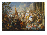 The Battle of the Amazons Premium Giclee Print by Johann Georg Platzer