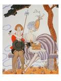 So Much or the Bird Is Quickly Tamed; Tant Mieux Ou L'Oiseau Vite Apprivoise Prints by Georges Barbier