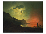 Vesuvius from Posillipo Posters by Joseph Wright of Derby