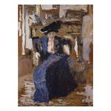 Woman in Blue Poster von Edouard Vuillard