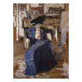 Woman in Blue Print by Edouard Vuillard