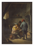 Peasants by an Inn Fire Prints by David Teniers the Younger