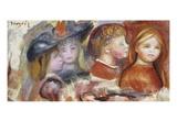 Study of Young Girls; Etudes De Jeunes Filles Posters by Pierre-Auguste Renoir